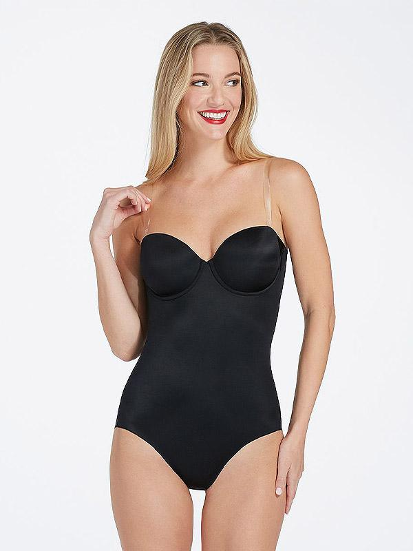 "Spanx koreguojantis bodis be petnešėlių ""Suit Your Fancy Strapless Black"""