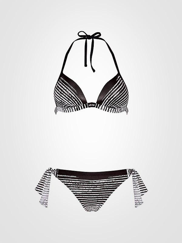 "Maryan Mehlhorn push up bikini maudymosi kostiumėlis ""Chintz 2 Black - White Stripes"""